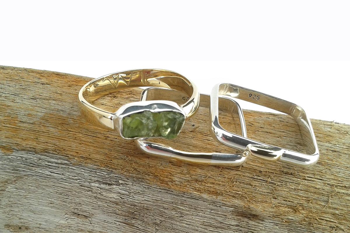ringen goud zilver peridoot